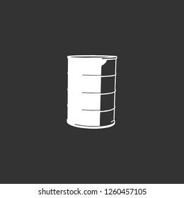 barrel icon vector. barrel sign on black background. barrel icon for web and app
