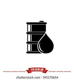 barrel oil icon vector illustration eps10.