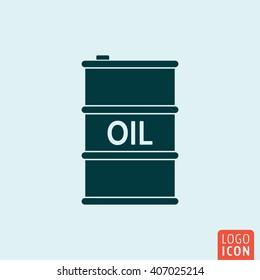 Barrel oil icon. Vector illustration