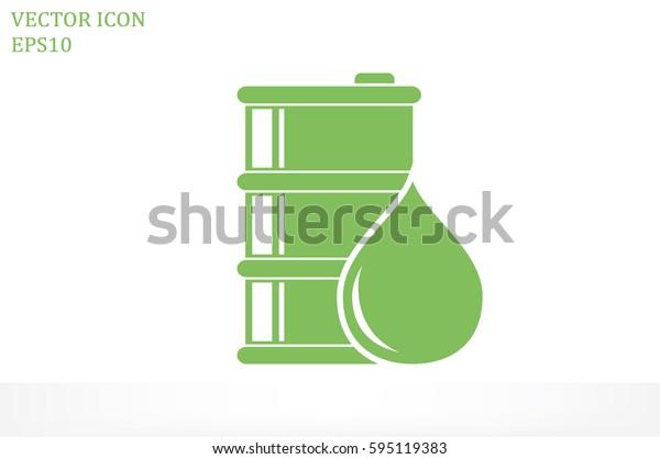 barrel oil icon vector illustration.