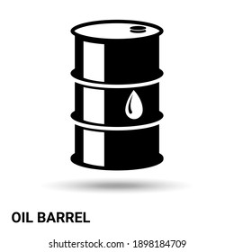 A barrel of oil. The oil barrel is isolated on a light background. Vector illustration.