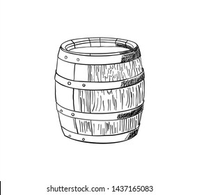 Barrel for the production of wine.