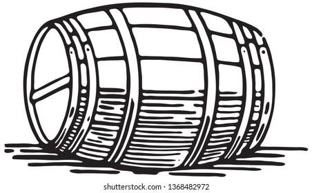 Barrel - Retro Ad Art Illustration