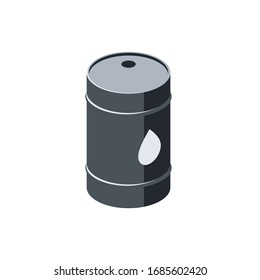 Barrels. Vector 3d isometric, color web icon, new flat style. Creative illustration design, isolated graphic idea for infographics.