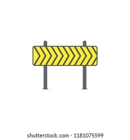 Barricade colored icon. Element of road signs and junctions icon for mobile concept and web apps. Colored Barricade can be used for web and mobile on white bakgorund