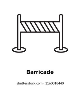 Barricade icon vector isolated on white background, Barricade transparent sign , sign and symbols in thin linear outline style