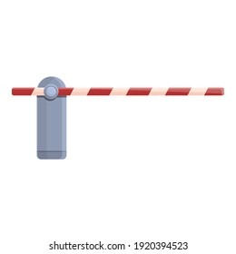 Barrier icon. Cartoon of barrier vector icon for web design isolated on white background