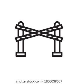 Barrier Icon Design Vector Template