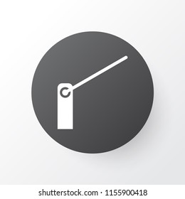 Barrier icon symbol. Premium quality isolated roadblock element in trendy style.