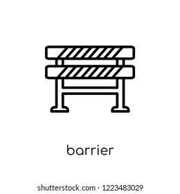 Barrier icon. Trendy modern flat linear vector Barrier icon on white background from thin line Construction collection, editable outline stroke vector illustration