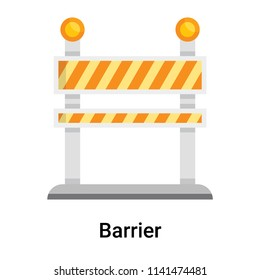 Barrier icon vector isolated on white background for your web and mobile app design, Barrier logo concept