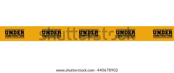 Barrier tape icon. Under construction design. vector graphic