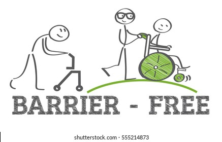 barrier-free - ramp way for support wheelchair disabled people