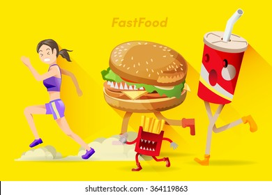 Barriers of healthy people. Who people are dieting,Often tempted by junk food.