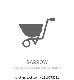 Barrow icon. Trendy Barrow logo concept on white background from Agriculture Farming and Gardening collection. Suitable for use on web apps, mobile apps and print media.