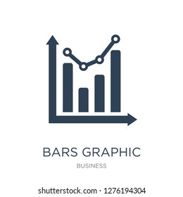 bars graphic icon vector on white background, bars graphic trendy filled icons from Business collection, bars graphic vector illustration