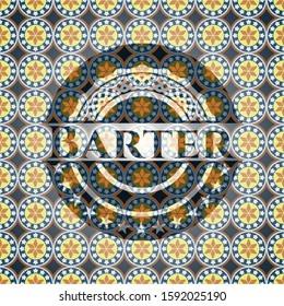 Barter arabesque emblem. arabic decoration.