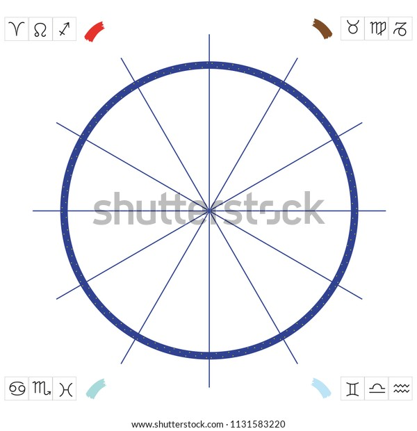 Base Astrological Chart Draw Birth Chart Stock Vector (Royalty Free