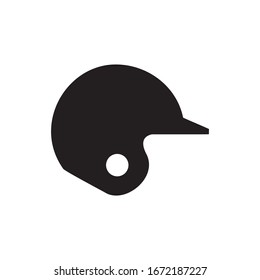 Base ball Helmet Icon, Sport Icon Vector