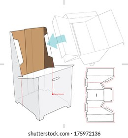 Similar images stock photos vectors of retail box blueprint base stand for display boxes with blueprint layout malvernweather Images