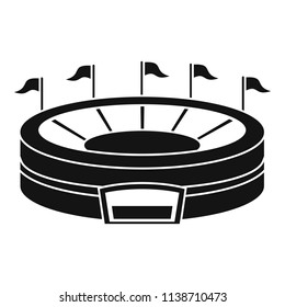 Baseball arena icon. Simple illustration of baseball arena vector icon for web design isolated on white background