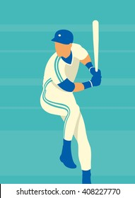 Baseball. Art poster. Vector illustration