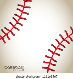 baseball background with red lines vector illustration