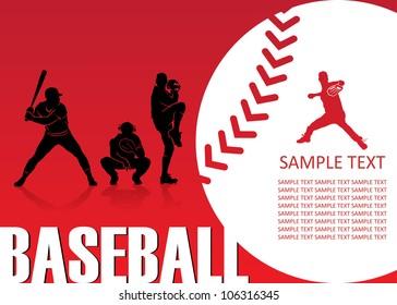 Baseball background - vector illustration