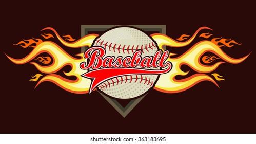 Baseball Ball in Flame