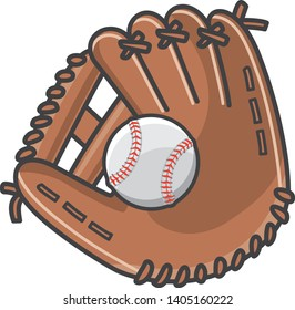 Baseball ball in the glove