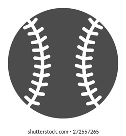 Baseball ball or baseball homerun flat vector icon for sports apps and websites