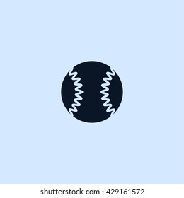 baseball ball icon. baseball ball vector illustration