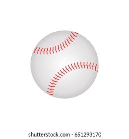 baseball ball isolated vector