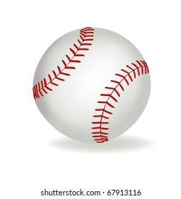 Baseball ball on a white background. Vector.