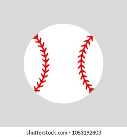 Baseball ball. Softball. Vector silhouette. Vector icon isolated
