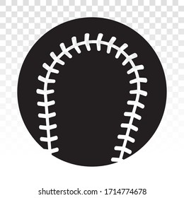 Baseball ball vector flat icon for sport apps or website on a transparent background