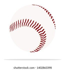 Baseball ball vector icon. Sport equipment concept illustration. Stitched ball realistic style design, designed for web and app. Eps 10