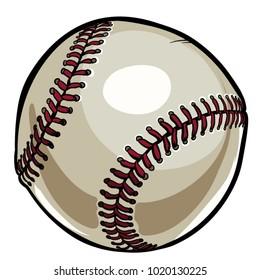 Baseball ball vector illustration.