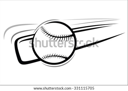 Baseball Bat Ball Stock Vector Royalty Free 331115705 Shutterstock