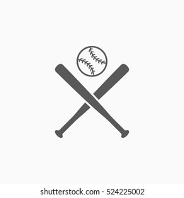 baseball bat and ball icon