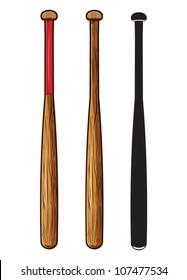 baseball bat isolated on white background