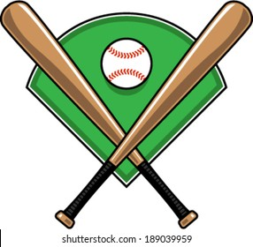 crossed baseball bats images stock photos vectors shutterstock rh shutterstock com Baseball Bat Vector Art Baseball Bat Vector Art