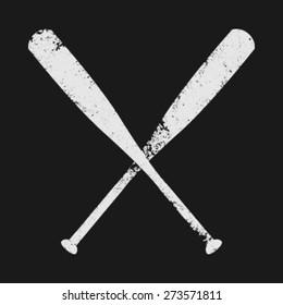 Baseball Bats Vector Icon