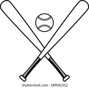 Baseball bats and baseball vector illustration