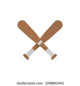 Baseball Bats, Vector illustration. Sport life.