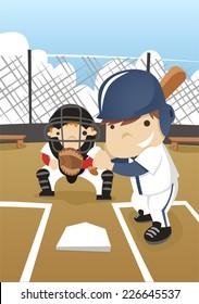 Baseball batter cartoon