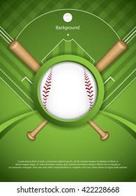 Baseball brochure.Vector illustration