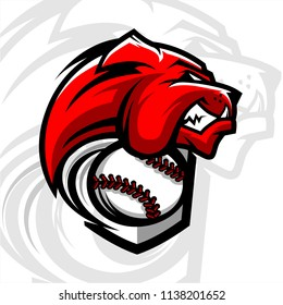Baseball Bulldog Team Logo