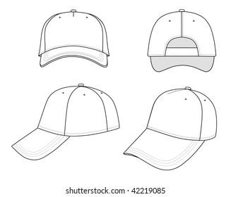 Hat Template Images, Stock Photos & Vectors | Shutterstock