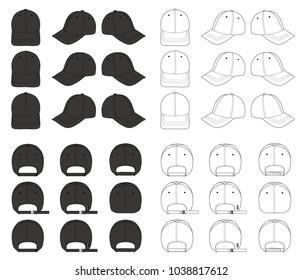 Hat beanie design 2018 illustration flat stock vector royalty free baseball cap mega vector design pack 2018 illustration flat sketches template maxwellsz